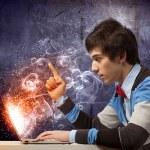 Businessman using laptop — Stock Photo #29084831