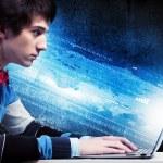Businessman using laptop — Stock Photo #29085117