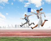 Företag som konkurrerar — Stockfoto