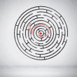 Stock Photo: Round maze