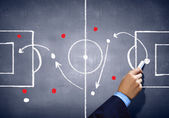 Soccer game strategy — Stock Photo