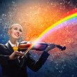 Violinist in business suit — Stock Photo #29203951