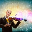 Violinist in business suit — Stock Photo #29204085