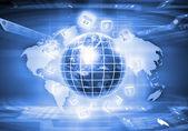 Digital globe image — Stock Photo