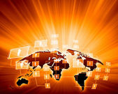 Orange image of globe — Stock Photo