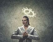 Saint businesswoman — Stock Photo