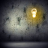 Background image with bulb — Stock Photo