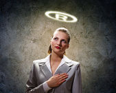 Saint businesswoman — Stock Photo