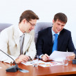Two businessmen at meeting — Stock Photo
