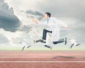 Running doctors — Stock Photo
