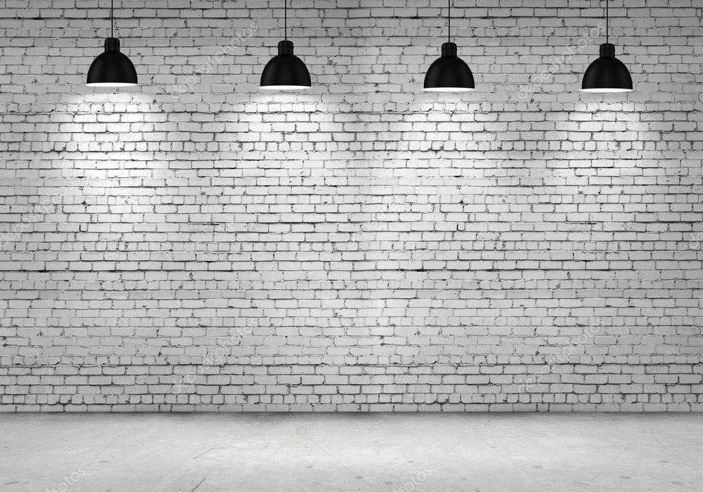 Mur en fausse brique blanche Mur en fausse brique