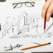 Architectural project — Stock Photo #29482325