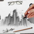 Architectural project — Stock Photo #29482329