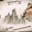 Architectural project — Stock Photo #29482337