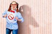 Young super hero woman — Stock Photo
