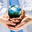 Earth planet in hands — Stock Photo #29531561