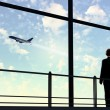 Businessman at airport — Stock Photo