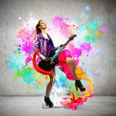 Rock passionate girl — Stock Photo