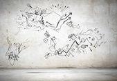 Sketch background image — Stockfoto