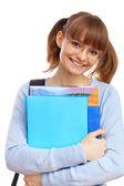 Happy student with books — Stock Photo