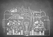 Business ideas sketch — Stockfoto