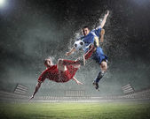 Two football player — Stock Photo