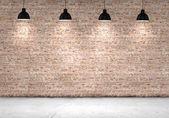 Muro di mattoni vuoti — Foto Stock