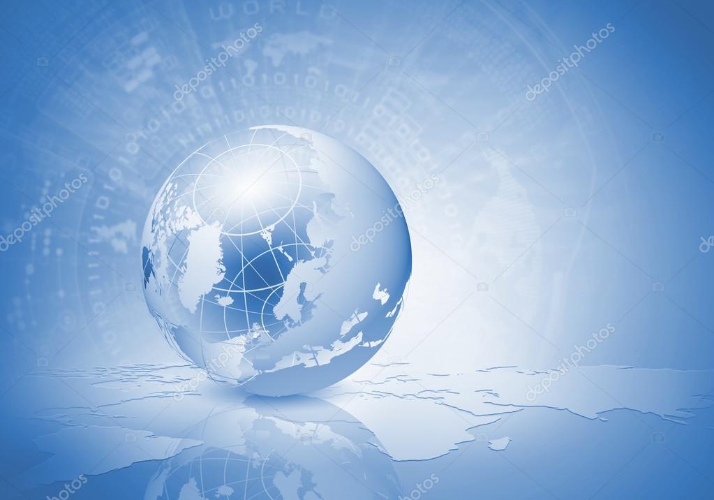 蓝色的地球的数字图像