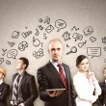 Businesspeople team posing — Stock Photo #29714575