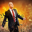 Stock Photo: Businessmin anger