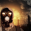 Man in gas mask — Stock Photo #29715579