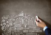 Business chalk sketch — Stock Photo