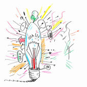 Sketch of bulb — Stock Photo