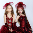 Little girls in beautiful dress — Stock Photo