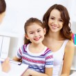 Little girl and a doctor — Stock Photo