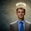 Saint businessman — Stock Photo
