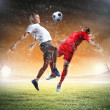 Stock Photo: Two football player
