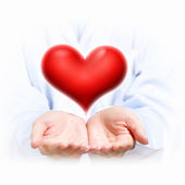 Big red heart — Stockfoto