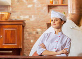 Young woman cook — Stock Photo