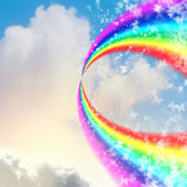 Rainbow in sky — Stock Photo