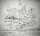 Business ideas sketch — Stock Photo
