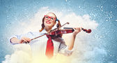 Young woman violinist — Foto Stock