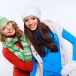 Young woman wearing winter hat and warm scarf — Stockfoto #29994579