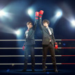 Two young businessman boxing — Stock Photo #29995485