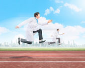 Running doctors — Stock Photo