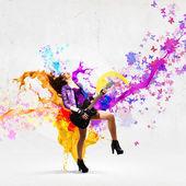 Rock passionate girl — Stock Photo