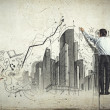 Businessman drawing sketch — Foto de Stock