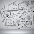 Business ideas sketch — Stok Fotoğraf #30054081