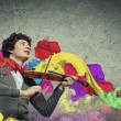 Young mviolinist — Stock Photo #30054299
