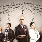 Businesspeople team posing — Stock Photo